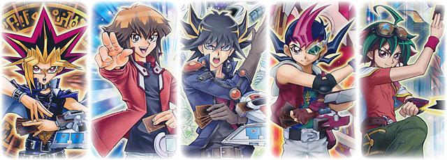 Yugi, Judai, Yusei, Yuma, Yuya