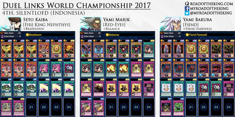 Yu Gi Oh Duel Links World Championship 2017 Decks Road