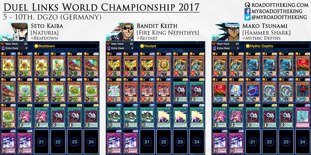 Yu-Gi-Oh! Duel Links World Championship 2017 Decks - Road of