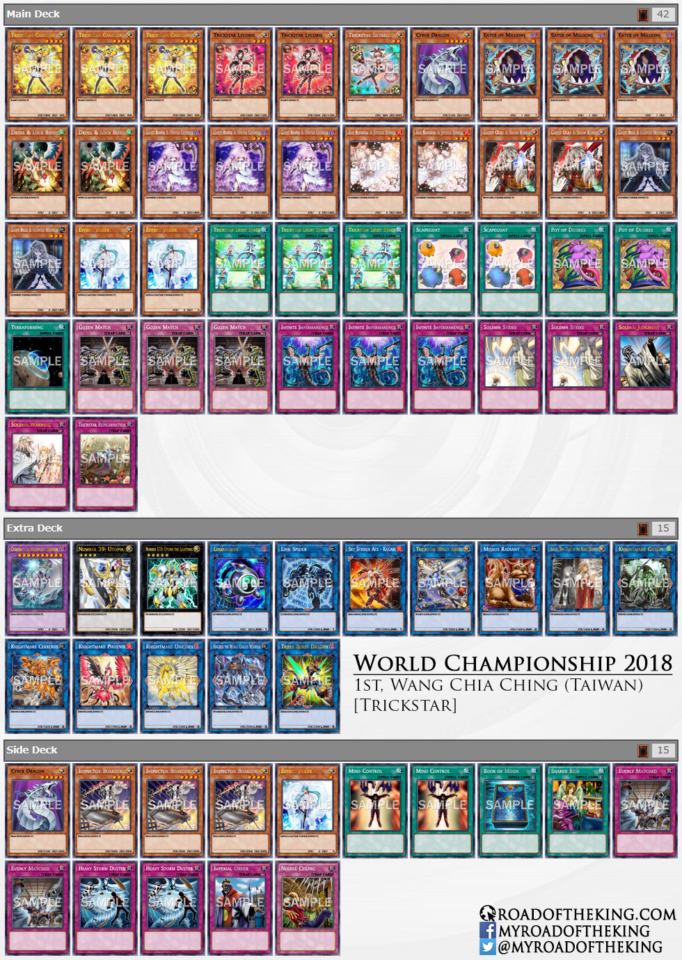 Yu-Gi-Oh! World Championship 2018 Decks - Road of the King
